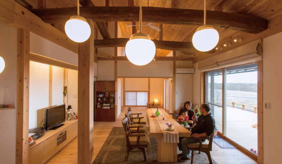 古材を使ったくつろぎの空間、日本漆喰協会作品賞:受賞
